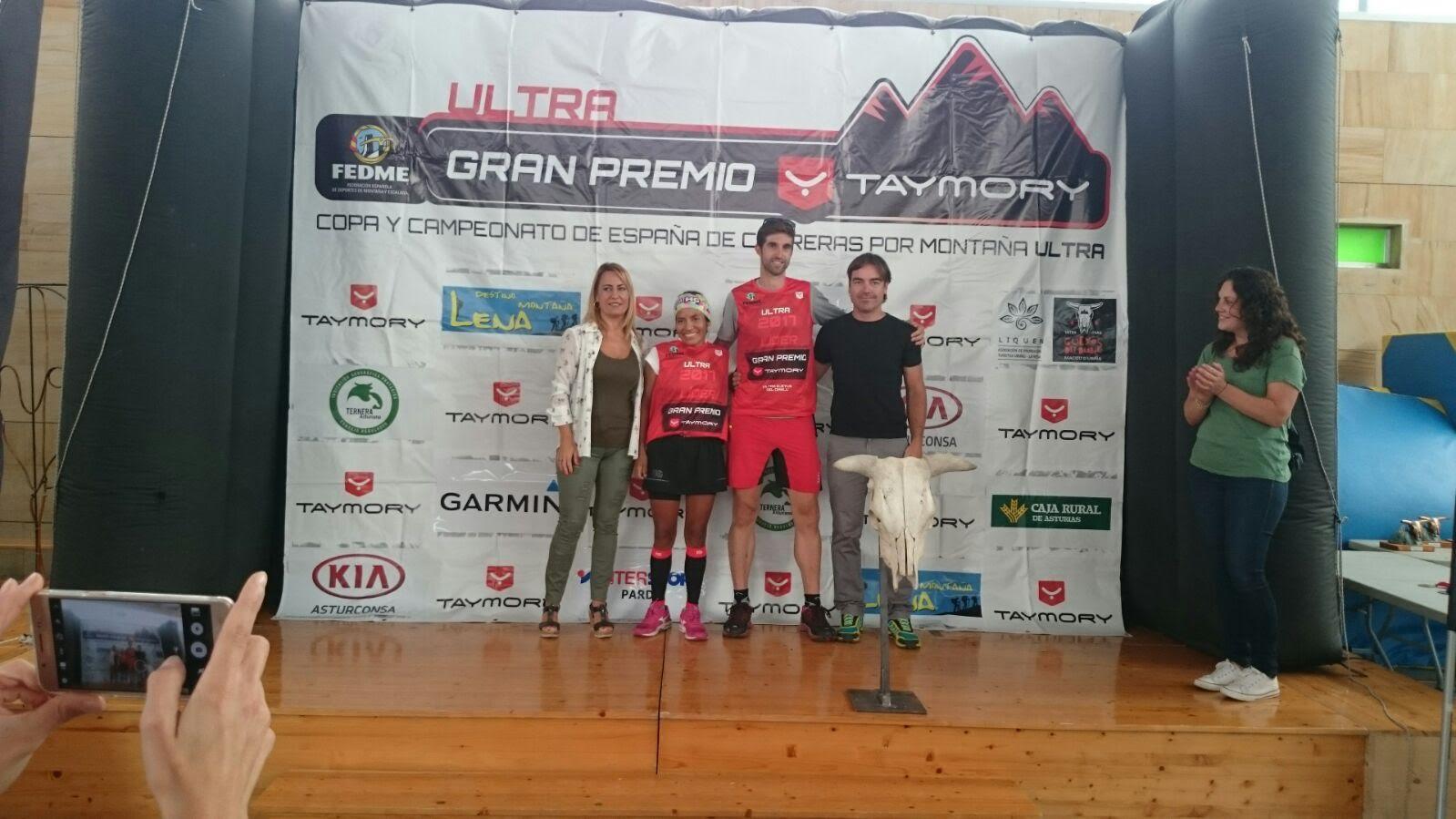Iván González y Mercedes Pila ganan el Ultra Güeyos del Diablu de la Copa de España de Carreras por Montaña Ultra - Gran Premio Taymory