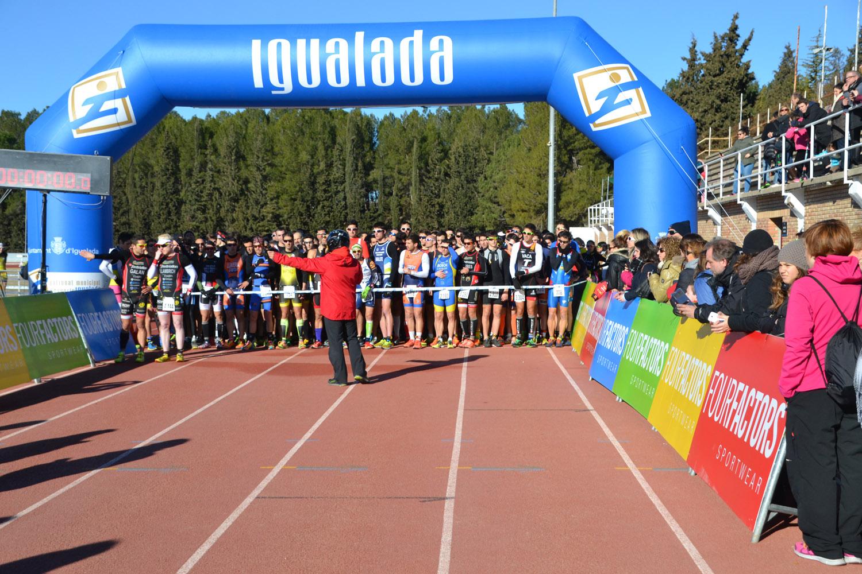 Francesc Godoy i Eva Ledesma es proclamen campions de Catalunya de Duatló Sprint a la Igualada Ciutat del Duatló