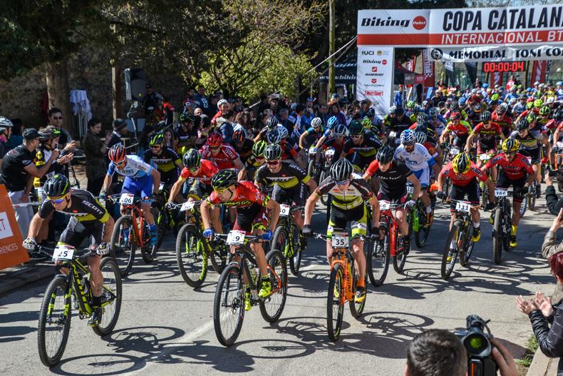 David Lozano yMagda Duran losmás rápidos enla Copa Catalana Internacional BTT Biking Point de Corró d'Amunt