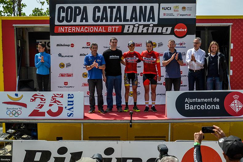 Francesc Guerra yMagda Duran ganadores del Trofeu Internacional Ciutat de Barcelona de la Copa Catalana Internacional BTT Biking Point