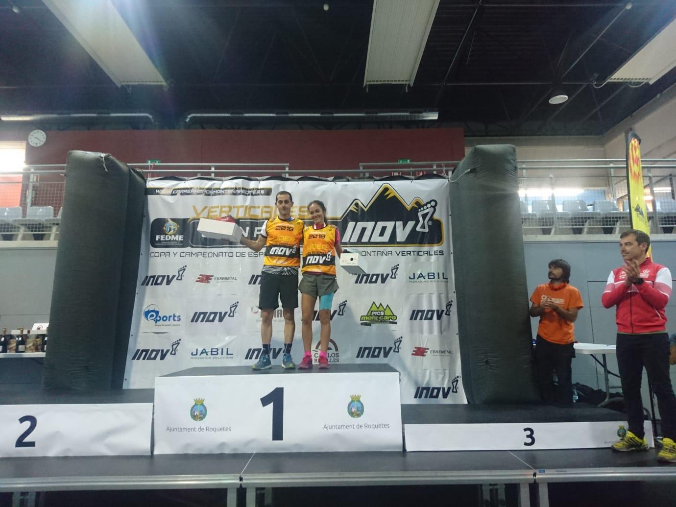 Agustí Roc y Gisela Carrión lideres de la copa de España de carreras por montaña verticales FEDME - gran premio INOV-8