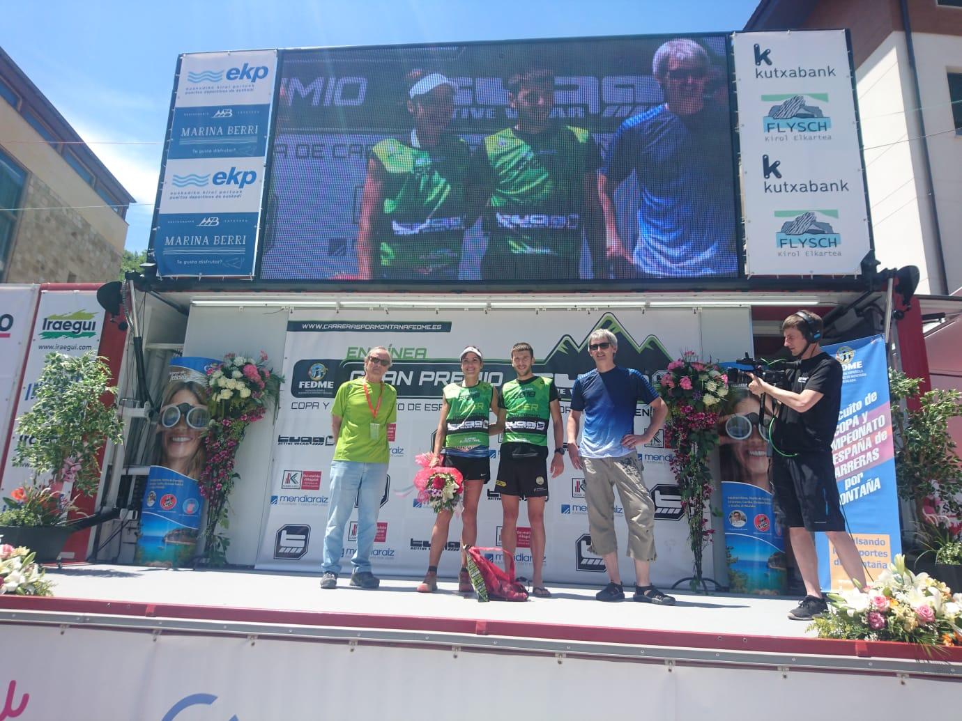 Walther Becerra y Sandra Sevillano vencedores de la ZUMAIA FLYSCH TRAIL, cuarta prueba de la Copa de España de Carreras por Montaña en Línea - FEDME -