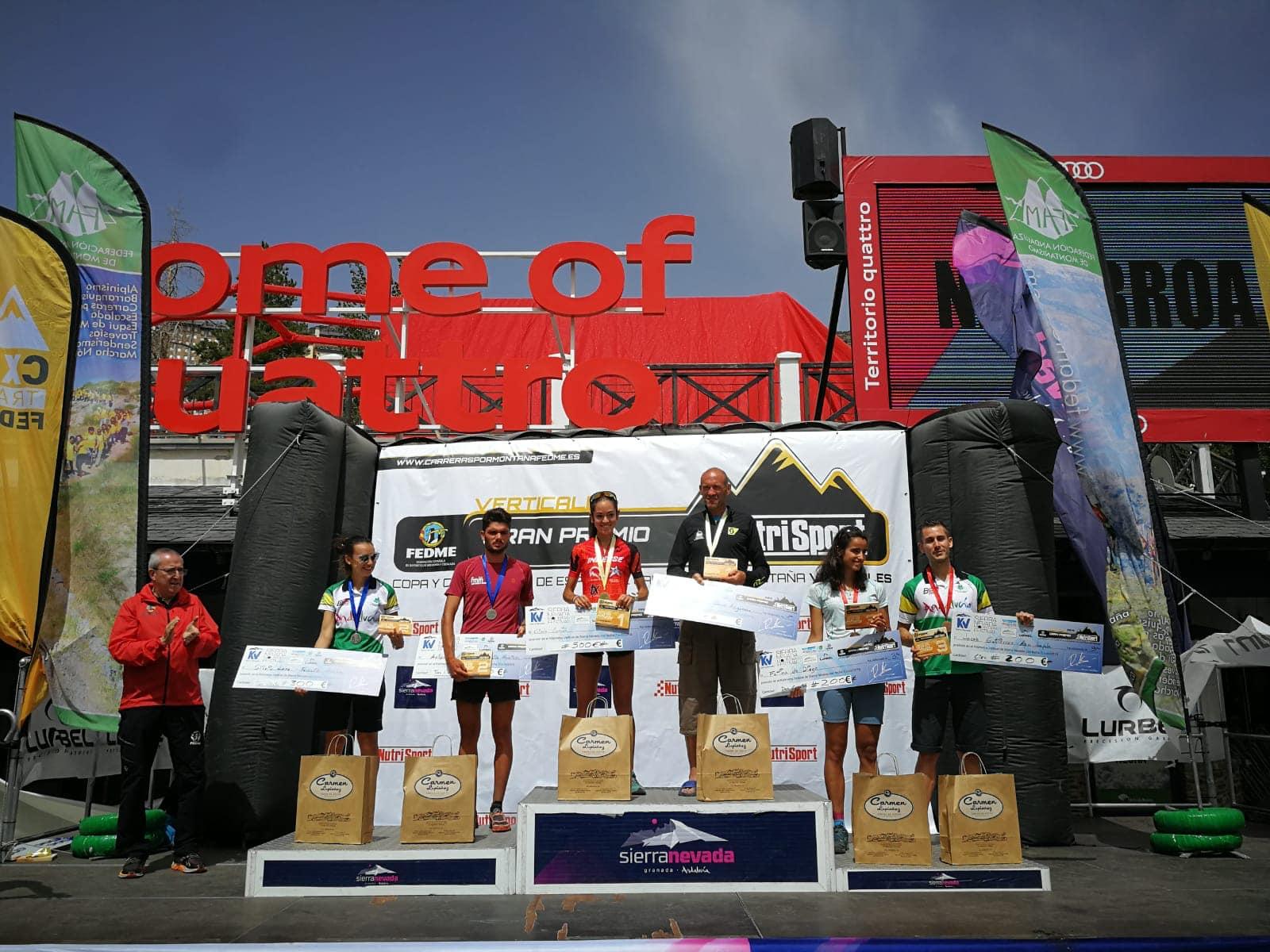 Daniel Osanz y Gisela Carrión se coronan en Sierra Nevada como Campeones de España de Carreras Verticales FEDME GP Nutrisport