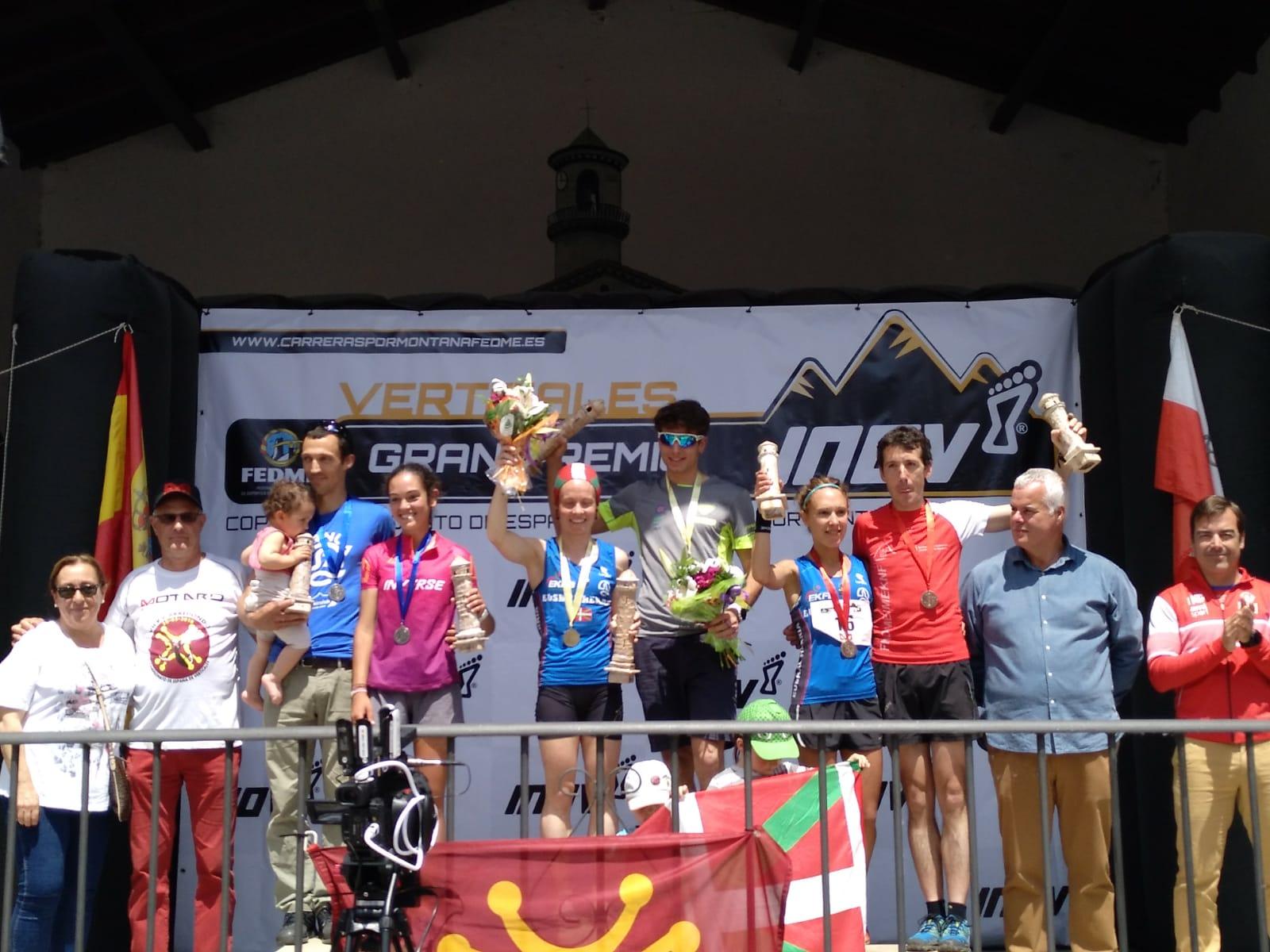 Oriol Cardona y Oihane Azkorbebeitia ganadores del Campeonatode España de Carreras por Montaña Verticales FEDME - Gran Premio INOV-8