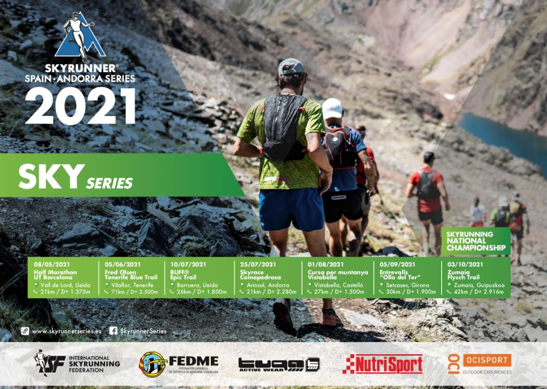 NUEVO CALENDARIO SKYRUNNER NATIONAL SERIES 2021