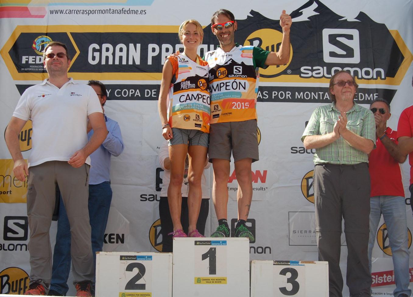 Iván Ortiz y Paula Cabrerizo se proclaman campeones de la Copa de España de Carreras por Montaña en Línea - GP BUFF®-Salomon en el Ricote Trail Meryl