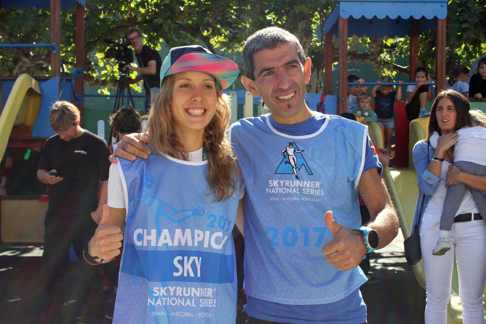 Jokin Lizeaga y Sheila Avil�s conquistan las Sky Series en una emocionante Gorbeia Suzien
