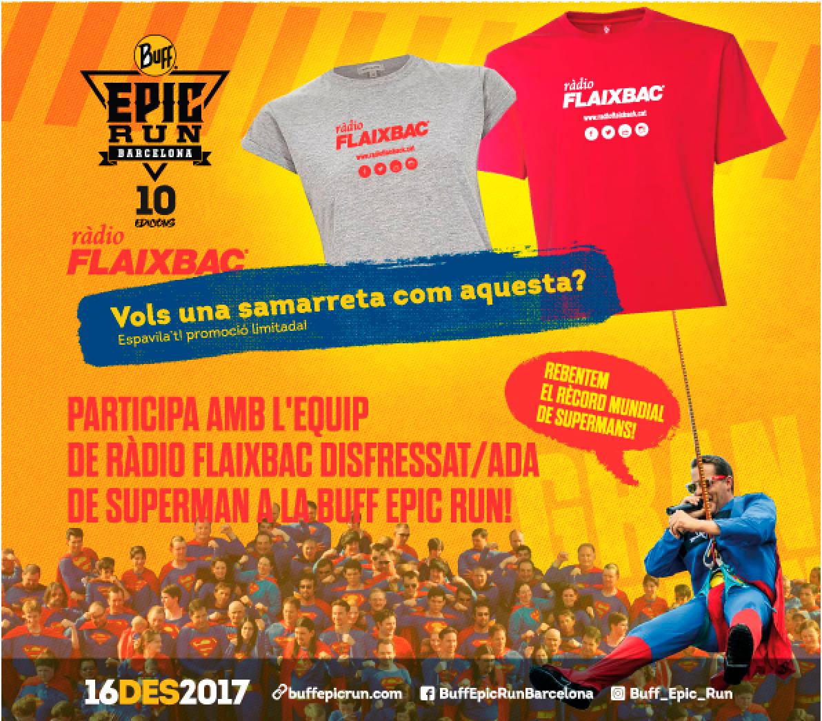 Aconsegueix la teva samarreta Flaixbac