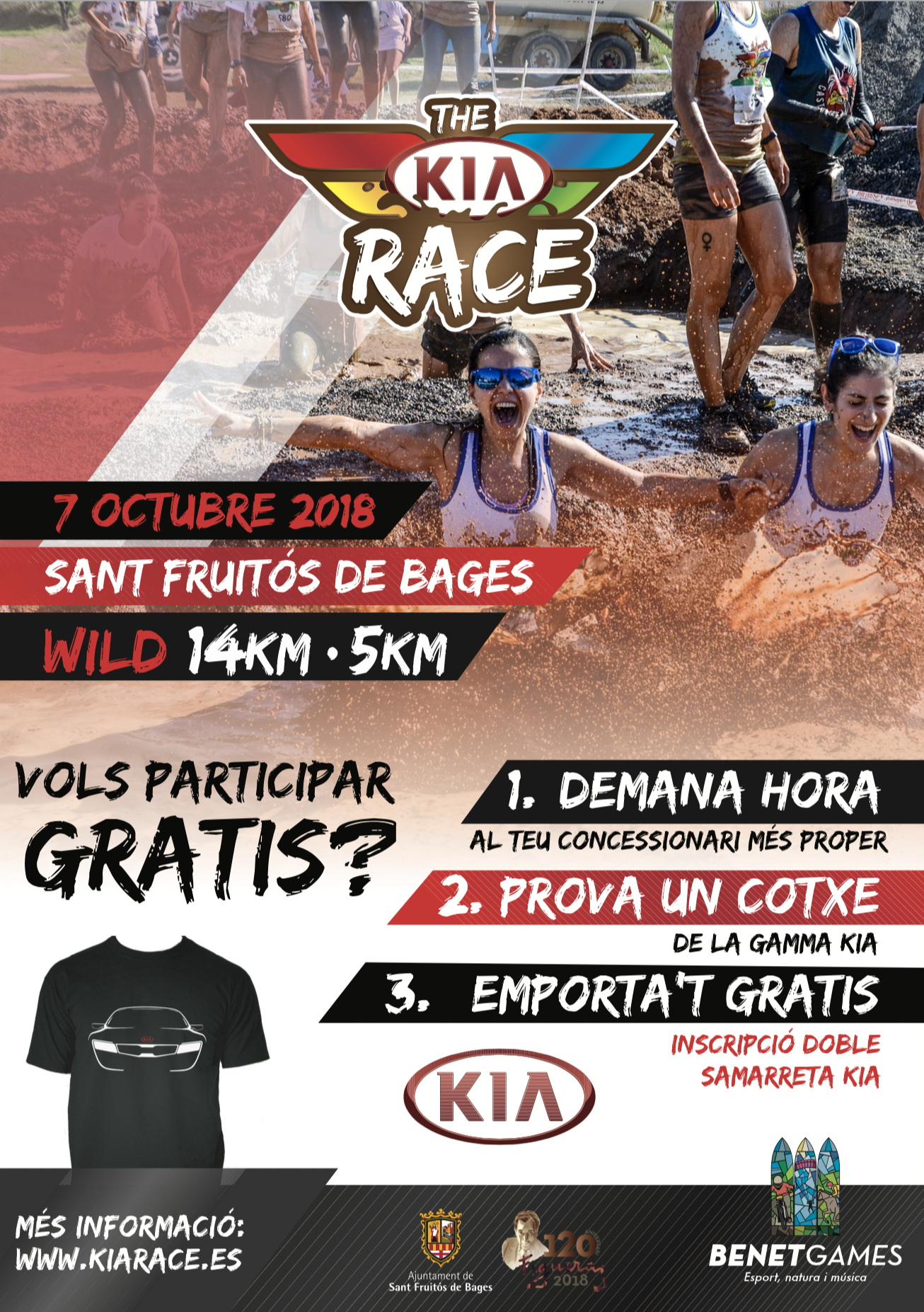 INSCRIPCIONS GRATUÏTES A LA KIA RACE DE SANT FRUITÓS DE BAGES DEL 7 D'OCTUBRE