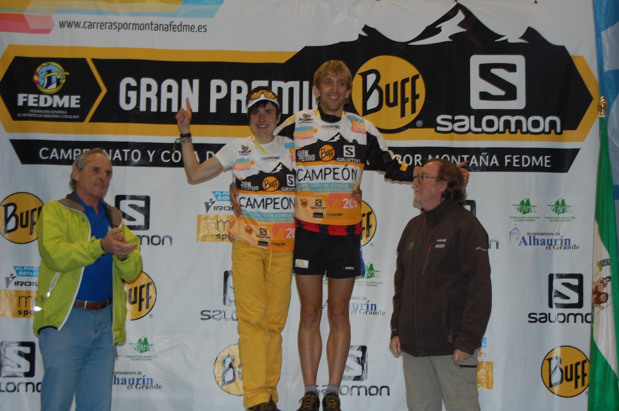 Pere Rullán y Maite Maiora Campeones España de carreras por montaña en línea FEDME Gran Premio Buff®-Salomon tras imponerse en el Trail Cara los Tajos