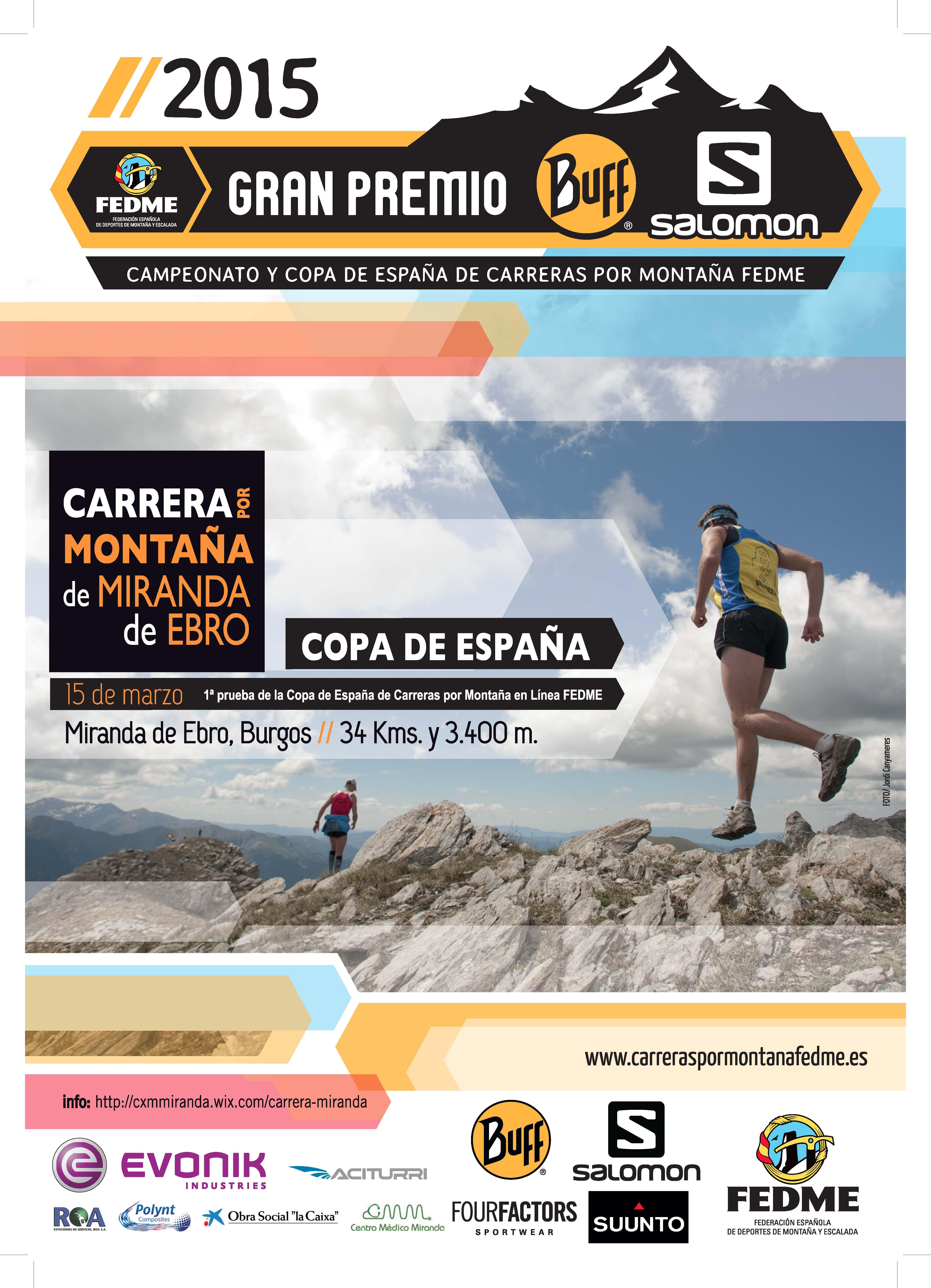 Arranca la Copa de España FEDME - Gran Premio Buff® Salomon 2015 en la Carrera por Montaña de Miranda de Ebro