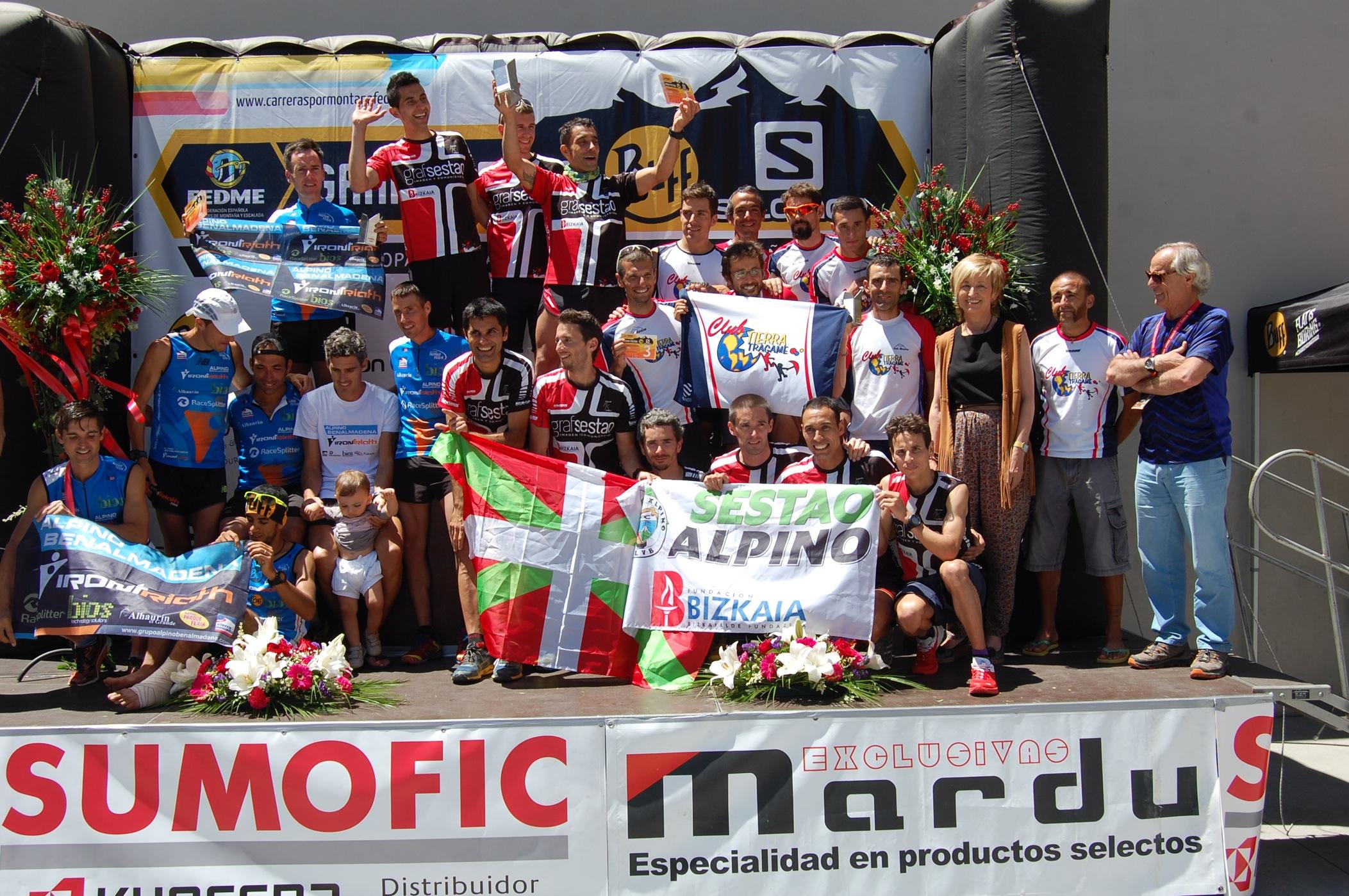 Sestao Alpino Grafsestao y Alpino Benalmádena revalidan el título de Campeones de España de Carreras por Montaña en línea de Clubes FEDME