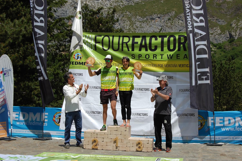 Oriol Cardona y Maite Maiora se proclaman Campeones de España de Carreras por Montaña Verticales FEDME - GP Four Factors en el KV Fuente Dé