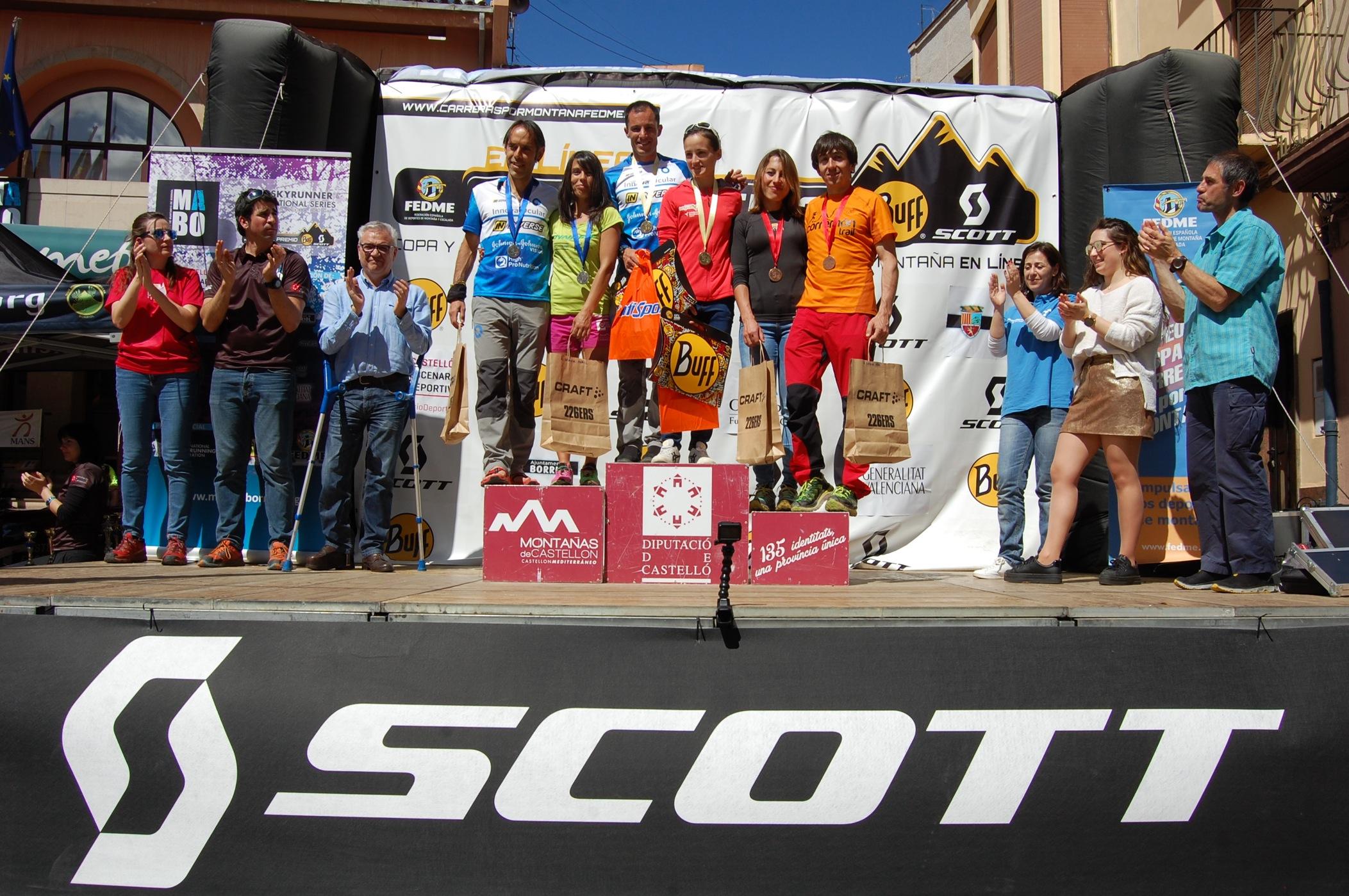 Dani García y Eli Gordón vencen en la Marató de Muntanya de Borriol  de la Copa de España de Carreras por Montaña en Línea FEDME - GP BUFF® SCOTT
