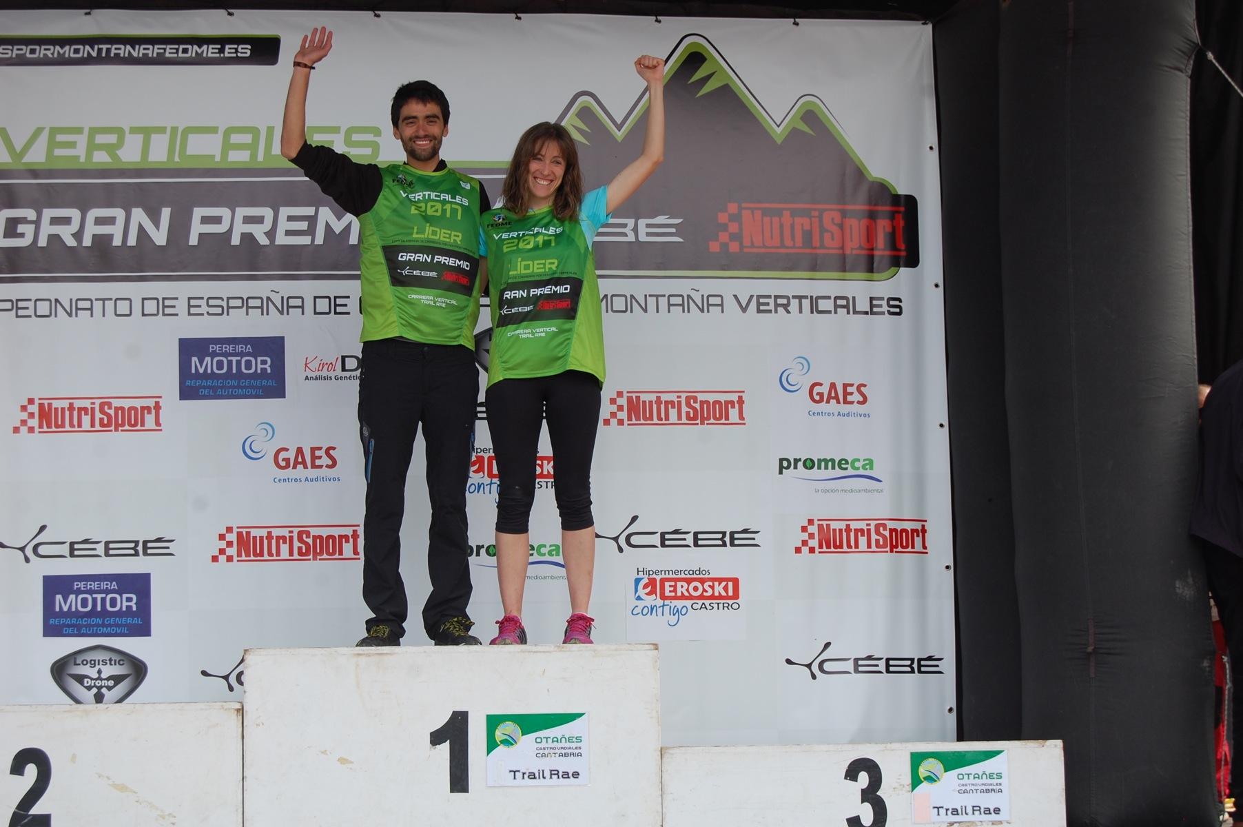 Joseba Díaz y Virginia Pérez primeros líderes de la Copa de España de Carreras por Montaña Verticales FEDME - GP Cébé Nutrisport tras vencer en el CV-
