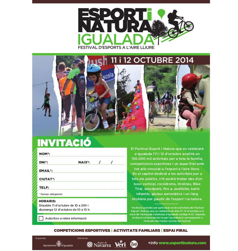 Entrades gratuïtes per als seguidors de la pàgina de Facebook del Festival Esport i Natura Igualada