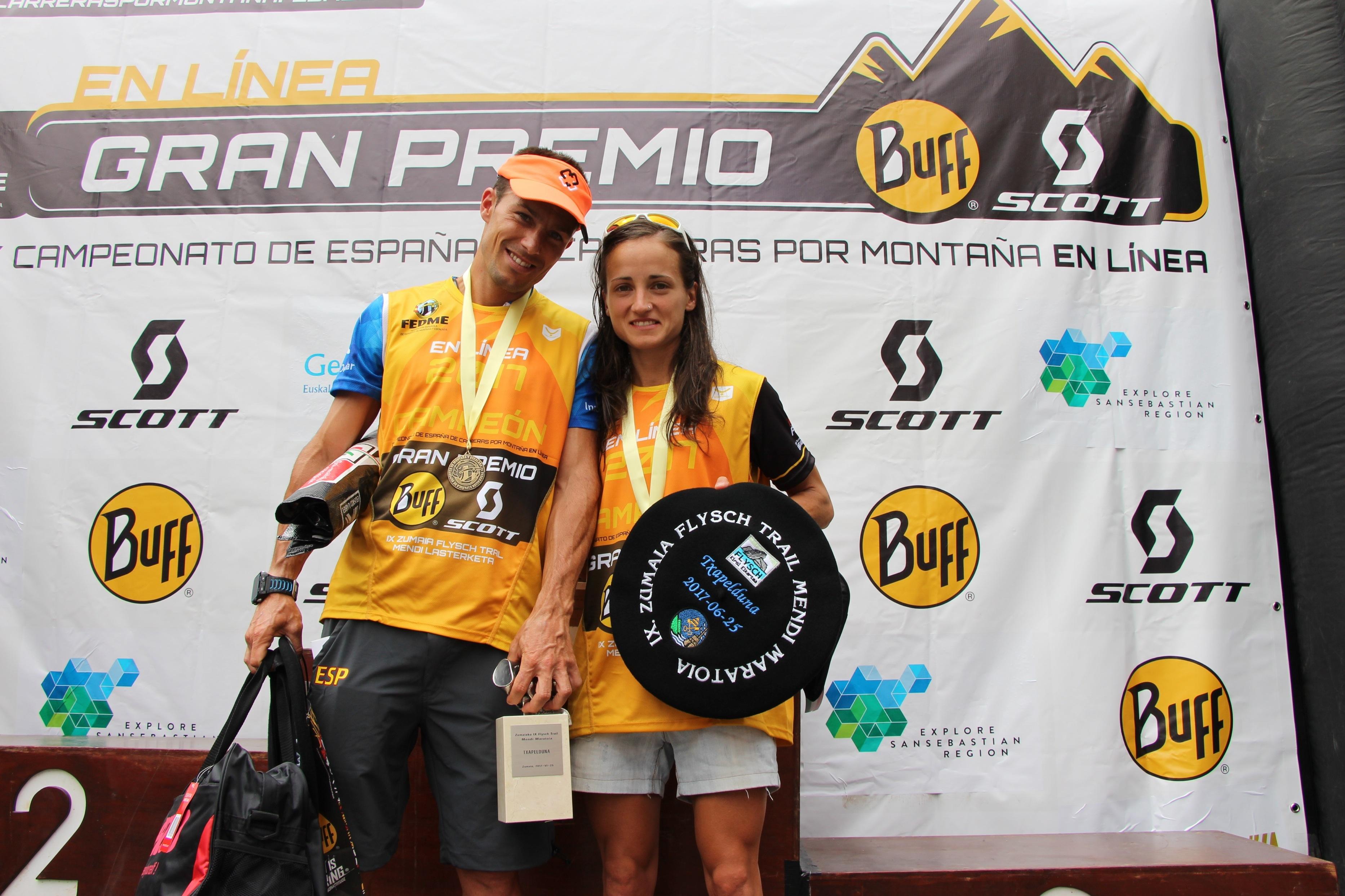 Dani García y Eli Gordón se proclaman Campeones de España de Carreras por Montaña en línea individual FEDME - GP BUFF®-SCOTT en la Zumaia Flysch Trail
