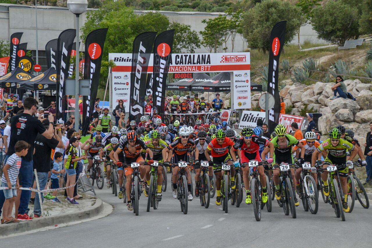 Ever Alejandro G�mez y N�ria Espinosa se imponen en la Copa Catalana Internacional de BTT Biking Point de Igualada