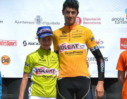 Tiago Ferreira y Adelheid Morath l�deres de la VolCat tras la etapa de Vilanova i la Geltr�