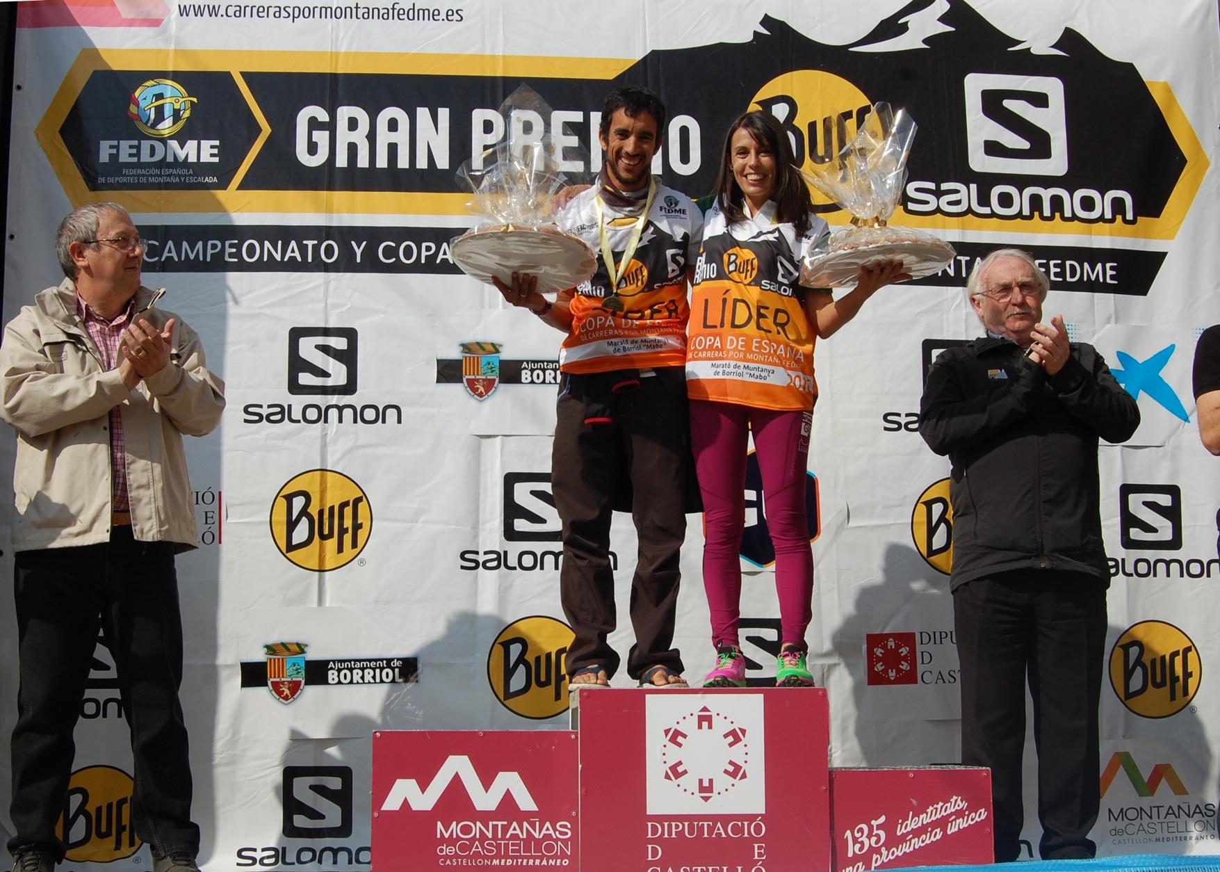 Gemma Arenas y Zaid Ait Malek líderes de la Copa de España de Carreras por Montaña en Línea GP - BUFF® Salomon tras imponerse en la Marató de Borriol