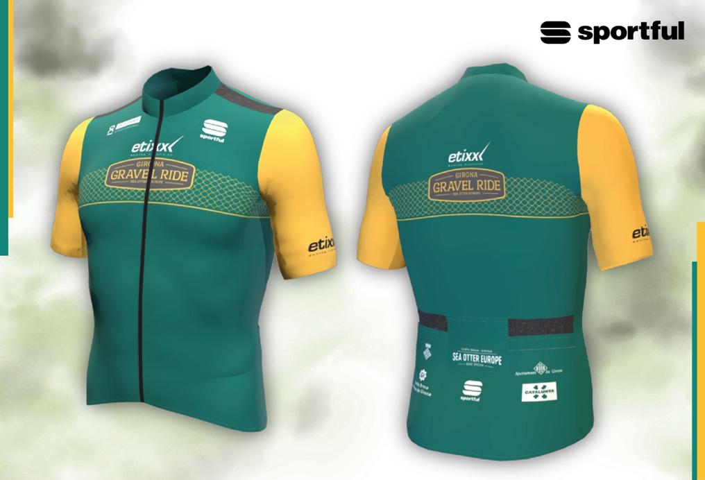 El model de mallot de la Etixx Girona Gravel Ride lluït per en Peter Sagan, actual ambaixador de Sportful