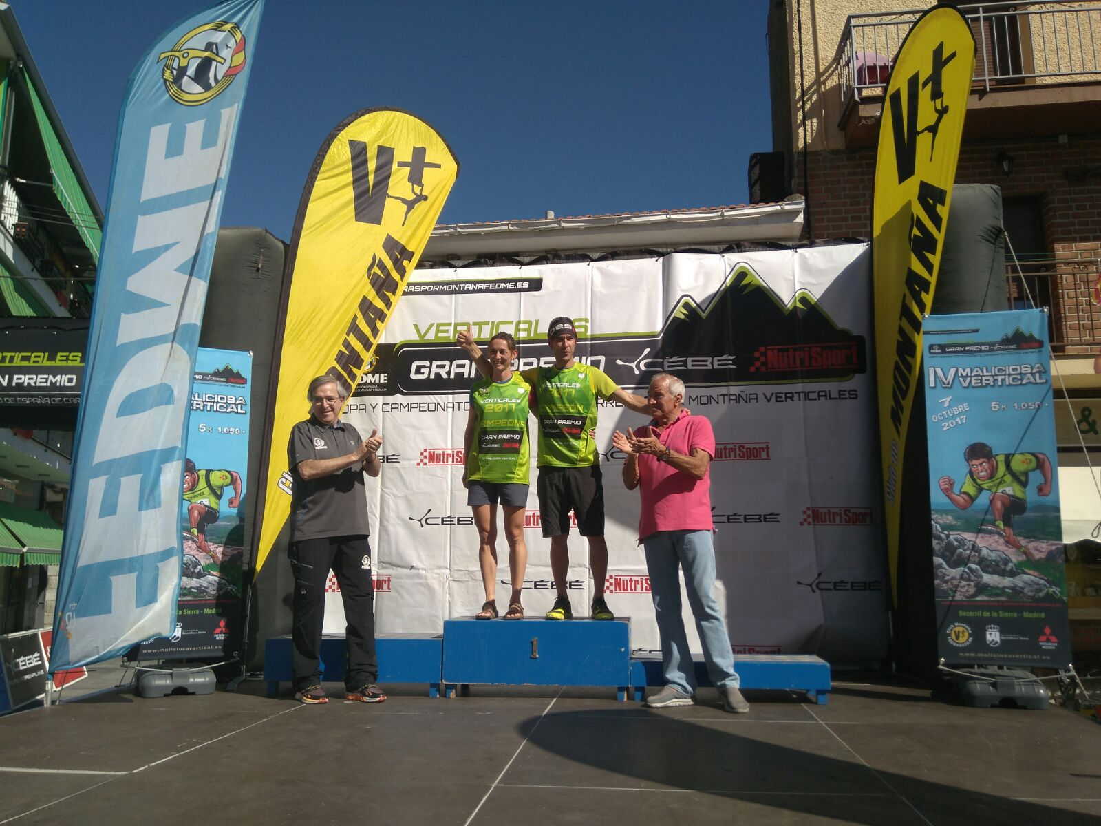 Kiko Navarro y Virginia Pérez, campeones de la Copa de España de Carreras por Montaña Verticales - GP Cébé-Nutrisport en la Maliciosa Vert