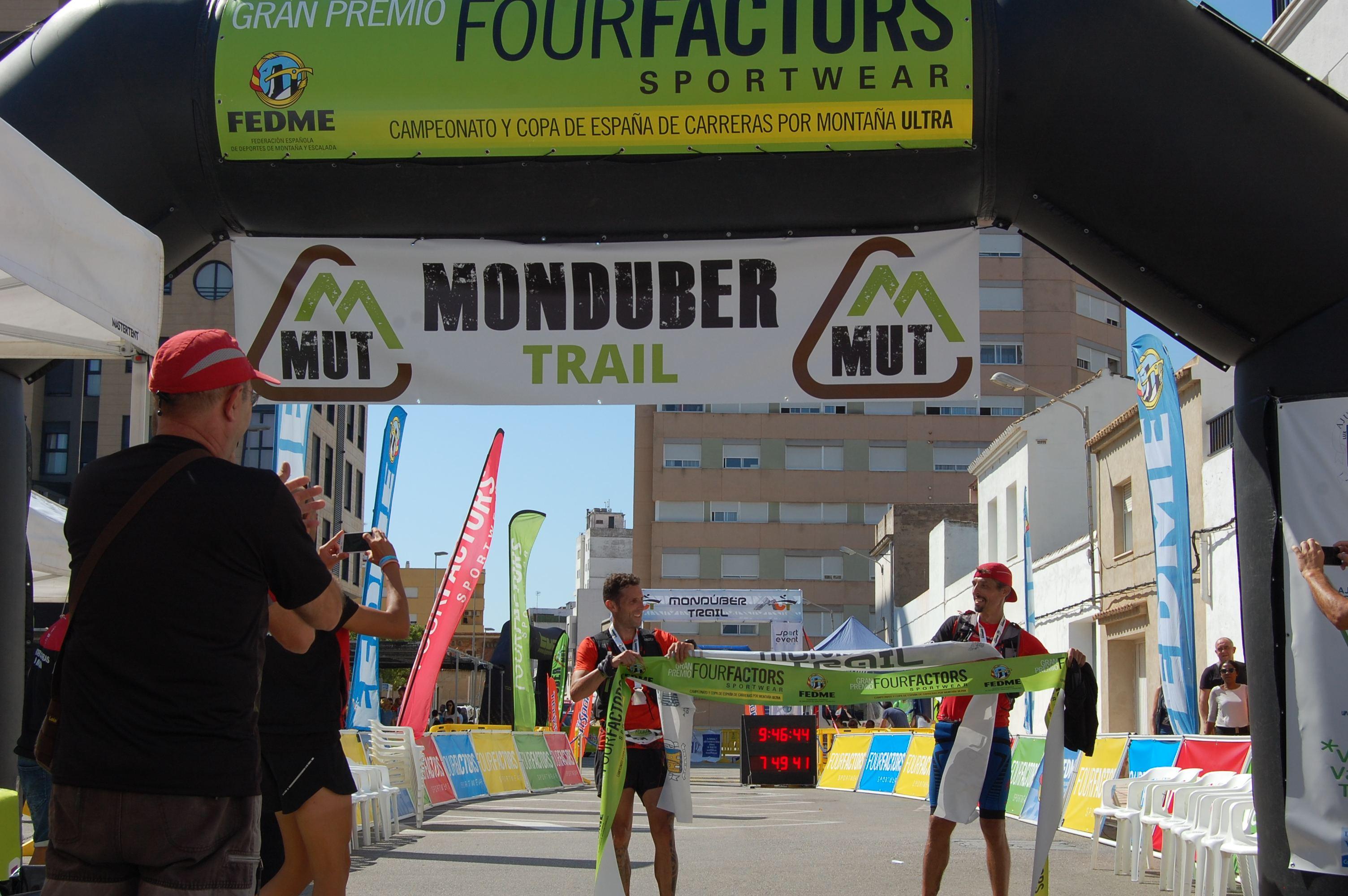 Dani Amat y Mercedes Pila se imponen en la Monduber Trail y se sitúan líderes de la Copa de España de Carreras por Montaña Ultra - GP Four Factors