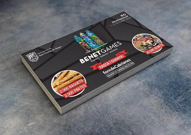 Els Benet Games de Sant Fruitós de Bages reparteixen targetes 'rasca i guanya' als establiments del Forn de Cabrianes