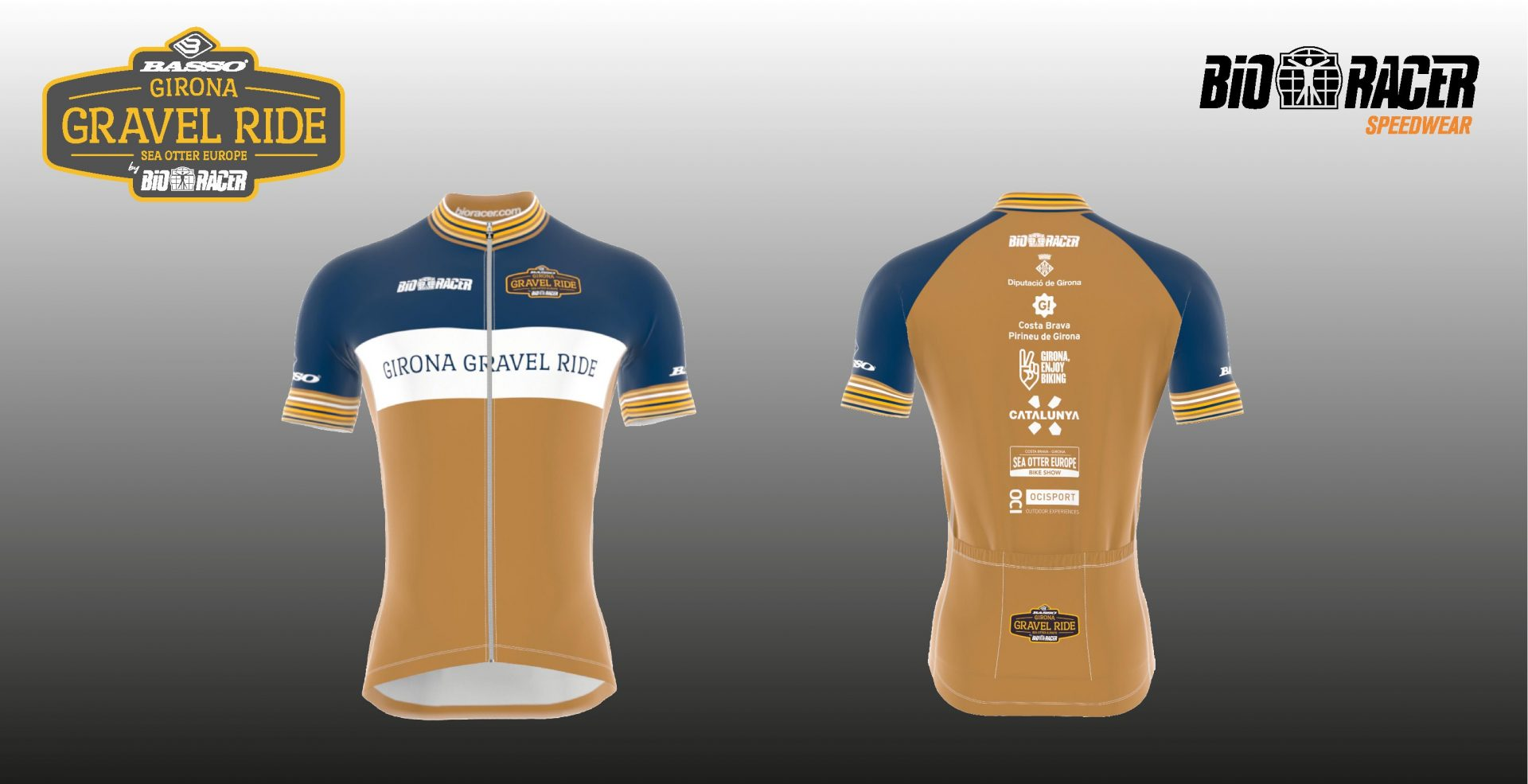 Presentamos el maillot oficial de la Basso Bikes Girona Gravel Ride by Bioracer