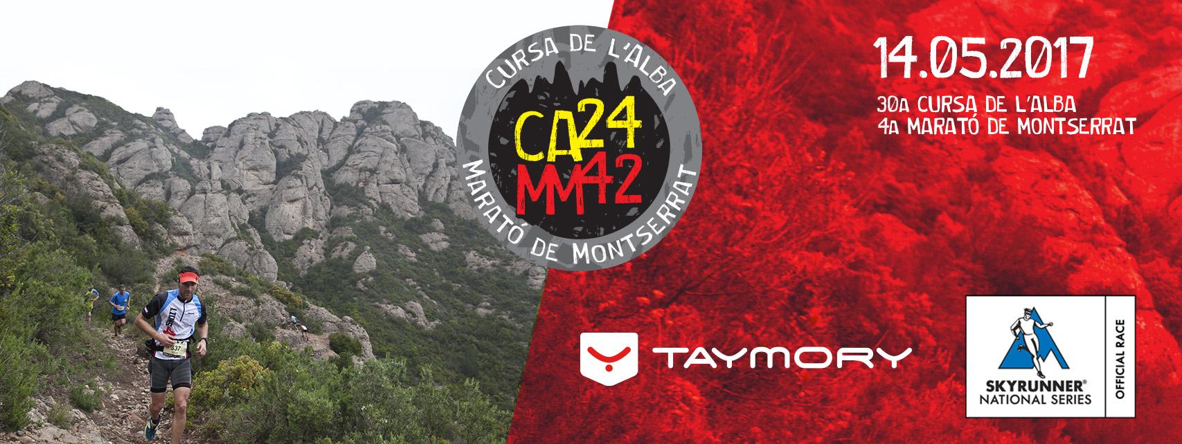 Mañana 17 de enero se abren inscripciones para la 30a edición de la Cursa de l'Alba y la IV Marató de Montserrat.