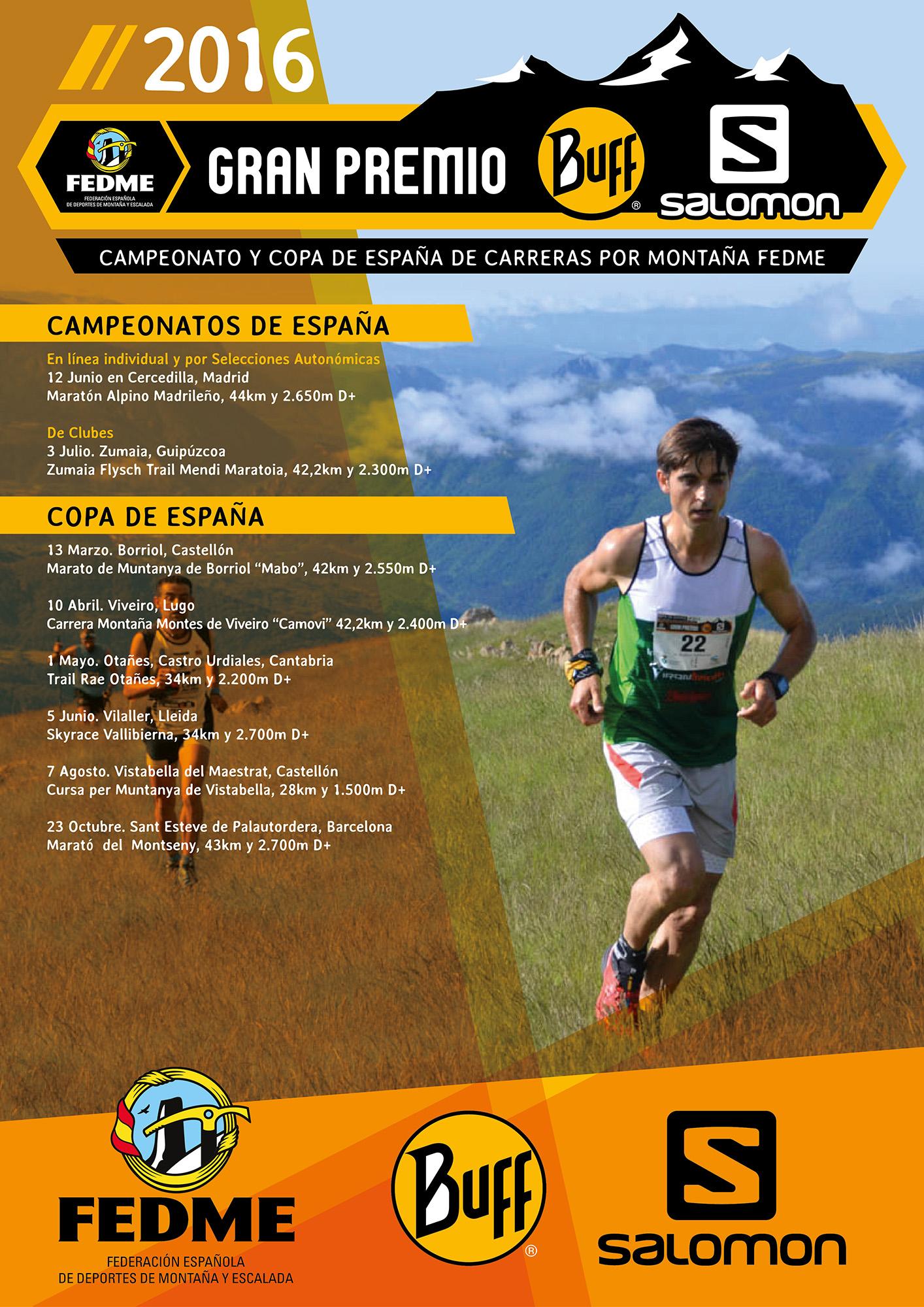 La FEDME presenta el calendario de Carreras por Montaña 2016