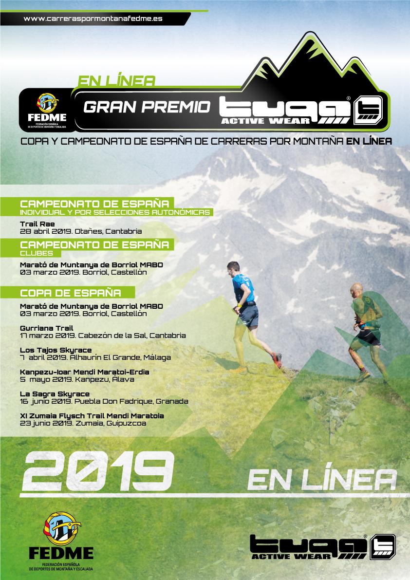 ARRANCA EL GRAN PREMIO TUGA - COPA Y CAMPEONATOS DE ESPAÑA DE CARRERAS POR MONTAÑA EN LÍNEA FEDME 2019