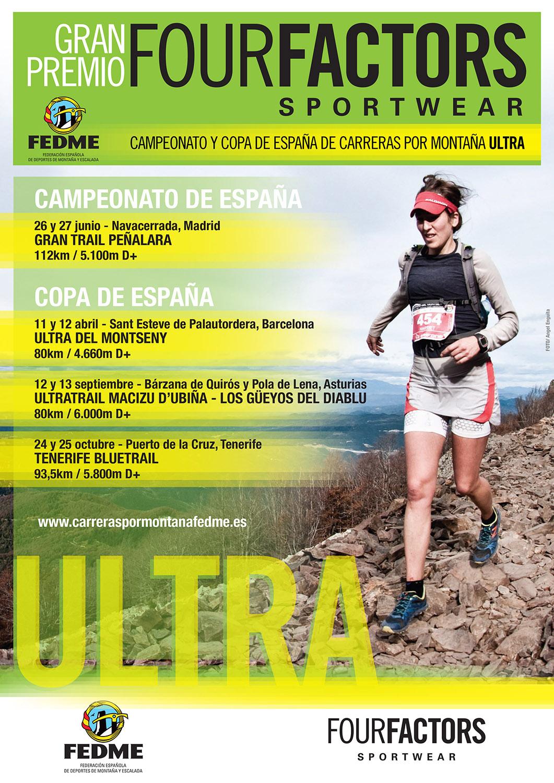 Four Factors Sportwear patrocinará el Campeonato y la Copa de España de carreras por montaña Ultra FEDME 2015