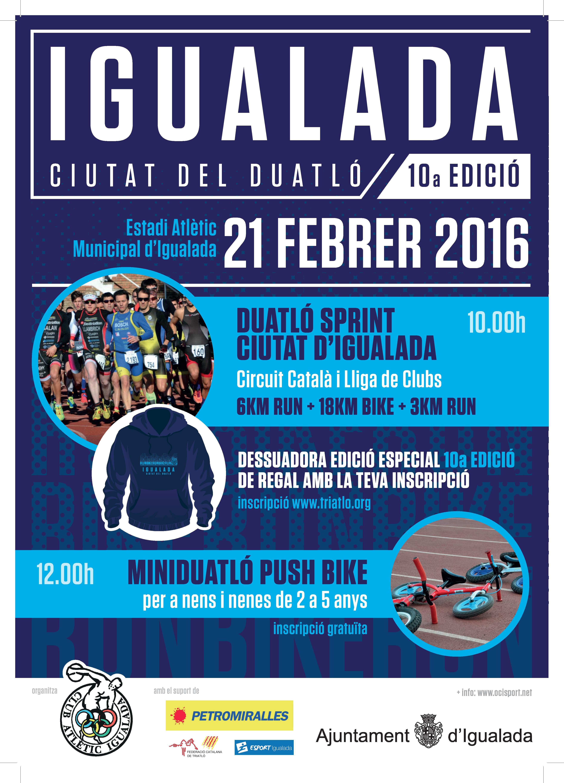 Inscripcions obertes a la Duatló Ciutat d'Igualada que celebra la seva desena edició el 21 de febrer