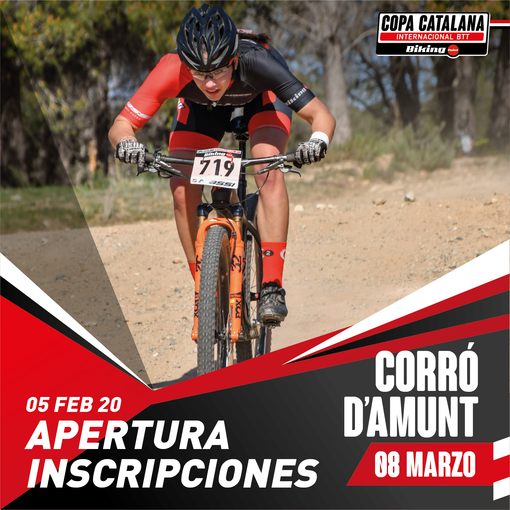 El 5 de febrero se abren las inscripciones de la  Copa Catalana Internacional Biking Point de Corró d'Amunt
