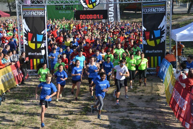 Diversión y obstáculos para 1.800 corredores en la Four Factors del festival Esport i Natura de Igualada