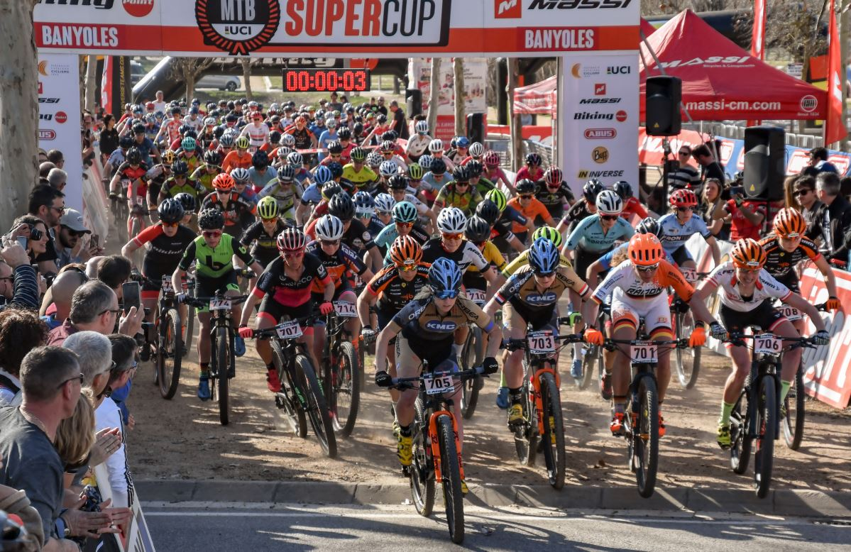 The world's MTB women�s elite meet at the Super Cup Massi in Banyoles