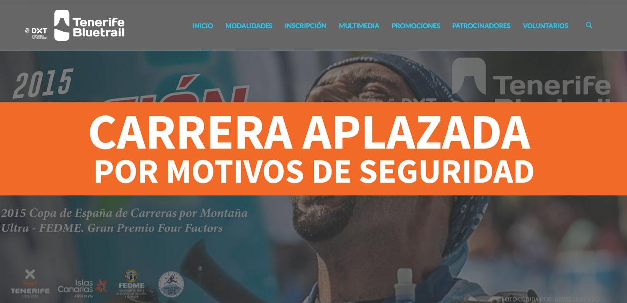 Se aplaza la Tenerife Bluetrail y la Copa de España de Carreras por Montaña Ultra - Gran Premio Four Factors finaliza con títulos para Dani Aguirre y