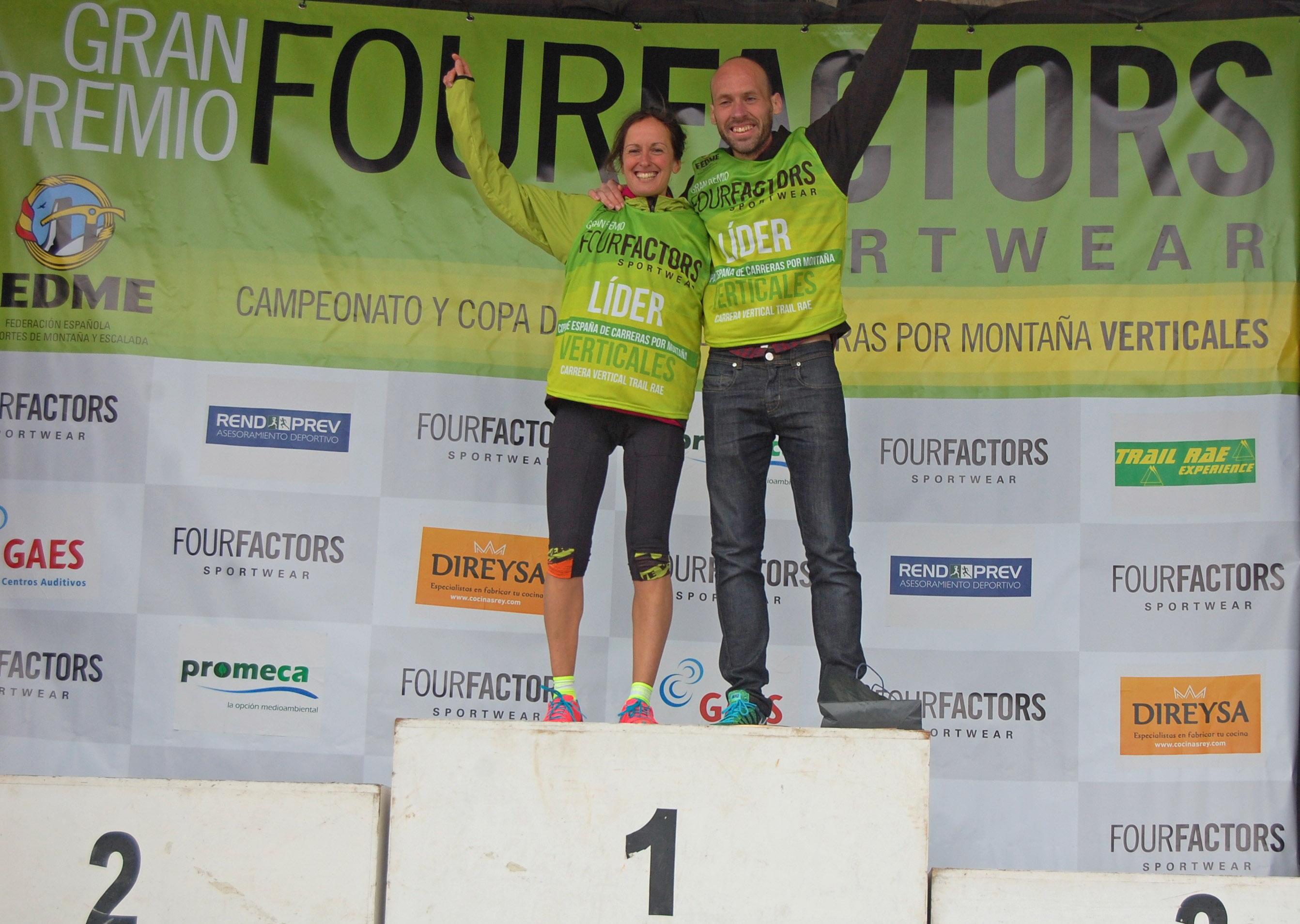 Azara García y Oier Ariznabarreta líderes de la Copa de España de Carreras por Montaña Verticales - GP Four Factors tras vencer el CV-TR 4.5 de Otañes