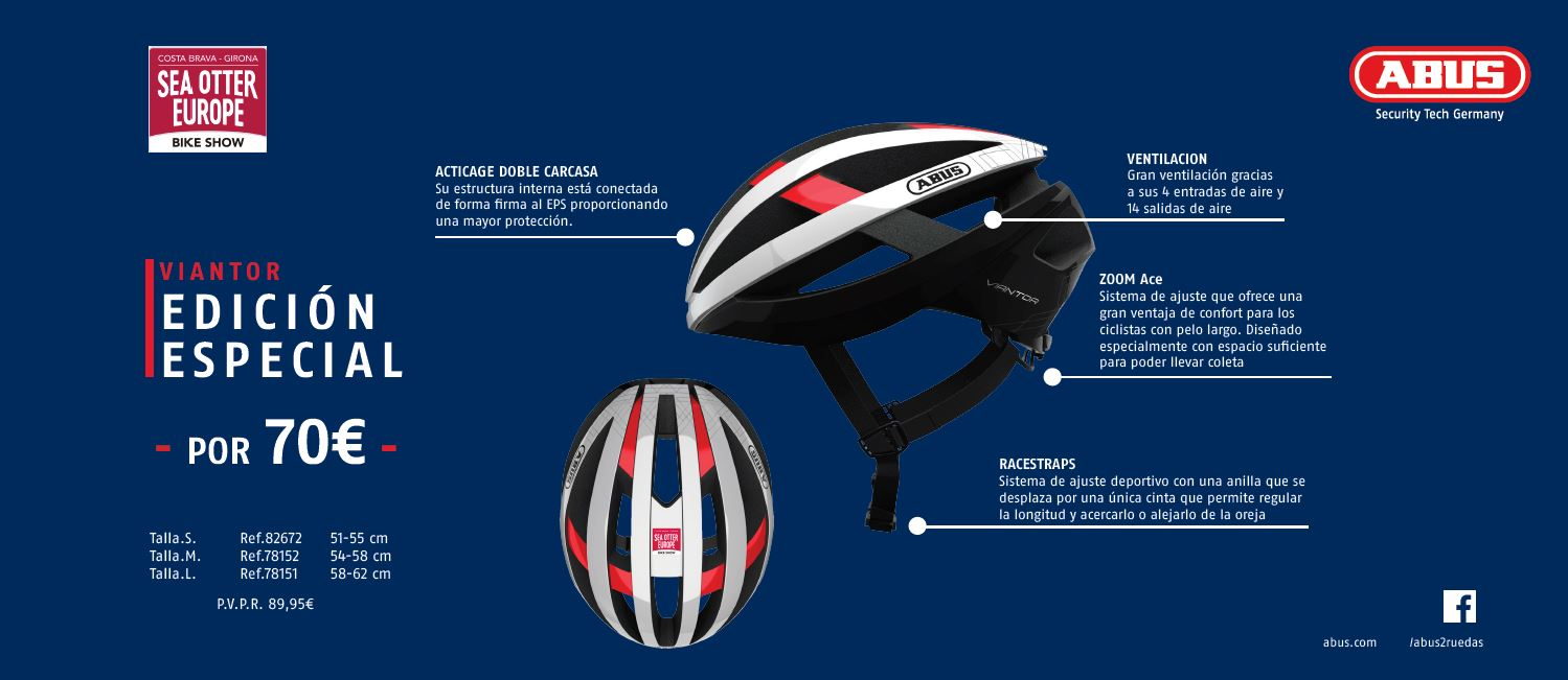 La Brava presents its official tour helmet made by ABUS